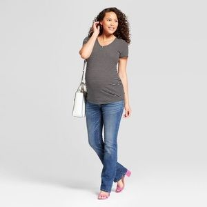 Isabel maternity skinny boot cut stretchy cotton